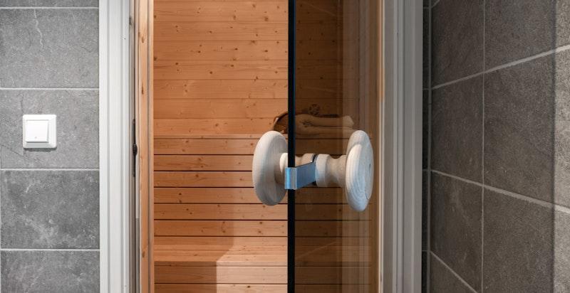 Badstuen ligger i tilknytning til bad nr. 2