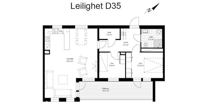 D35 plantegning