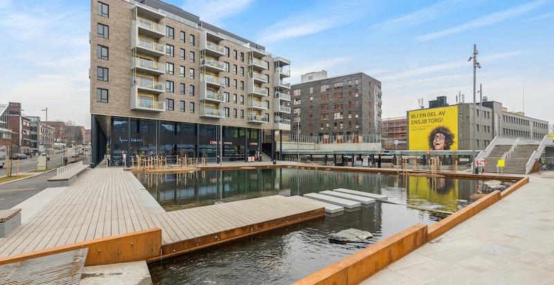 Ensjø Torg stod ferdigstilt ultimo 2019 og har gitt området et stort løft.