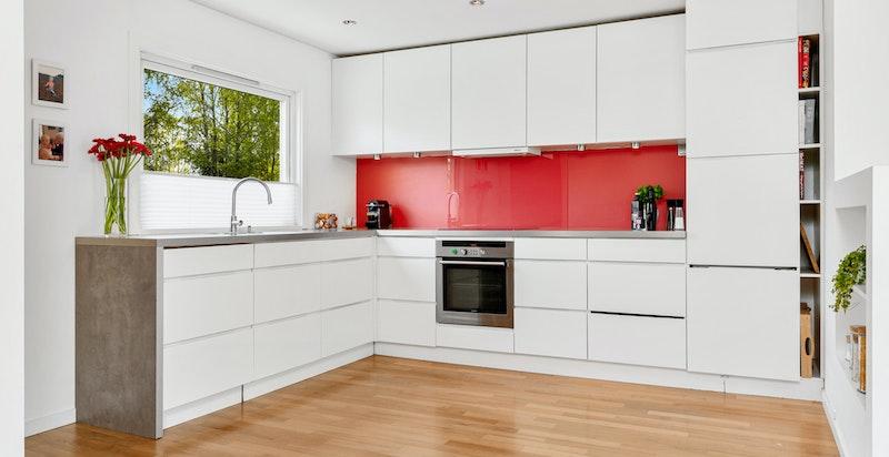Kjøkkenet som var nytt i 2008 er levert av KVIK