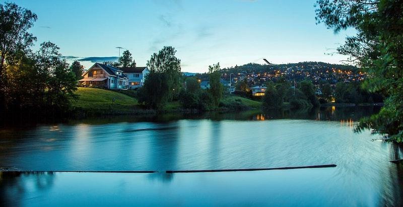 Holmendammen - mellom boligen og Smestad