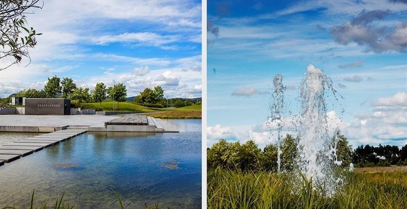 Nansenparken ligger midt på Fornebulandet kun kort gange fra Koksabukta