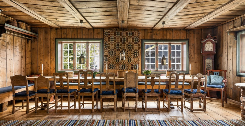 Gjestehus/selskapslokale med plass til opptil 32 personer