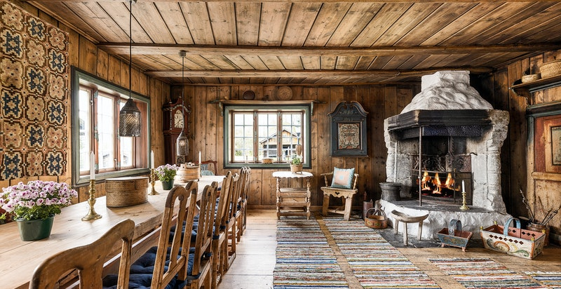 Sjåkstua trolig fra Sjåk i Gudbrandsdalen (opprinnelig fra ca. 1780)