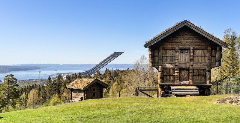 Loft/større stabbur trolig fra Valle i Telemark (opprinnelig fra ca. 1800)