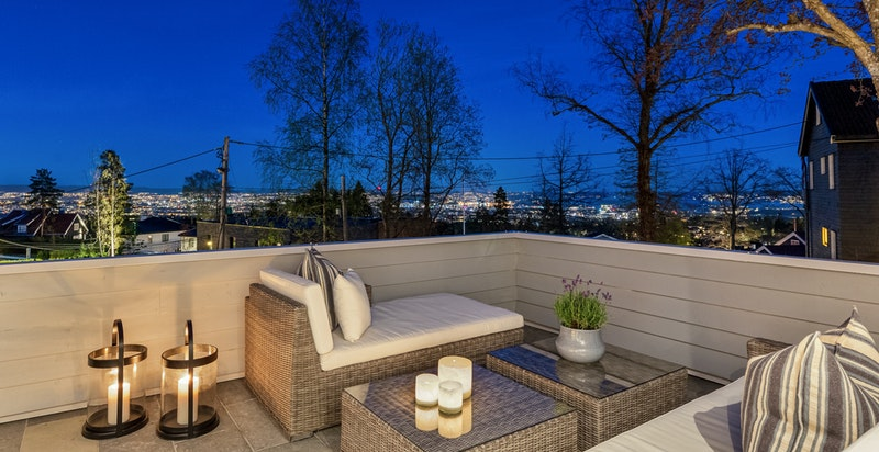 Flott utsikt fra terrassen