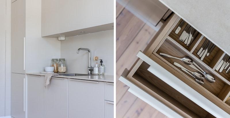 Kjøkkenet er snekkertilpasset fra Elen Møbelstudio.
