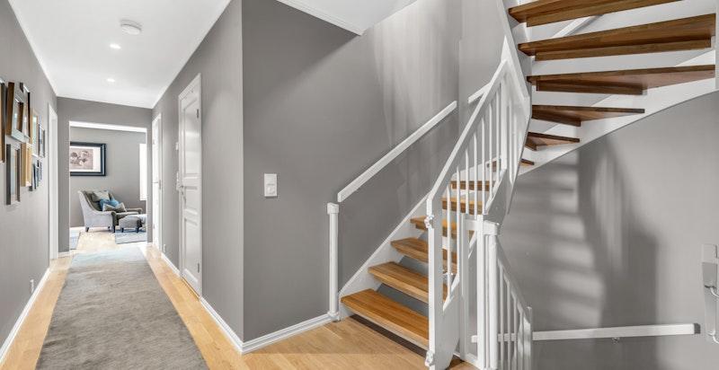 Trappeløp i husets soverom-etasje