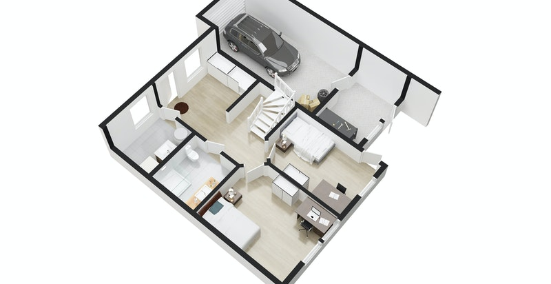 3D Plan første etasje