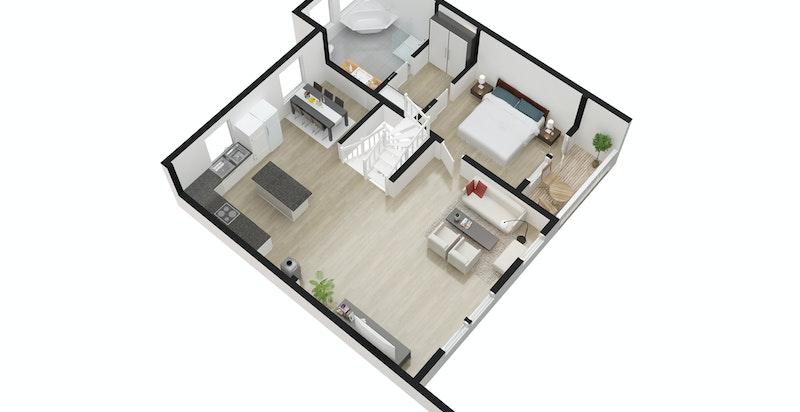 3D Plan andre etasje