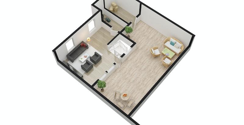 3D Plan tredje etasje