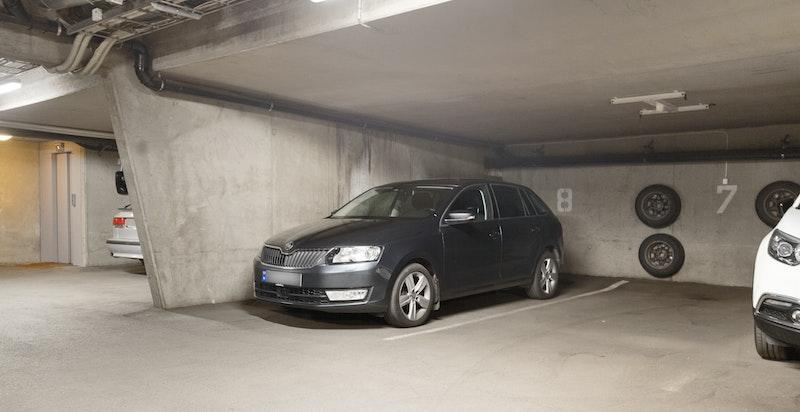 Parkeringsplass med mulighet for elbillader