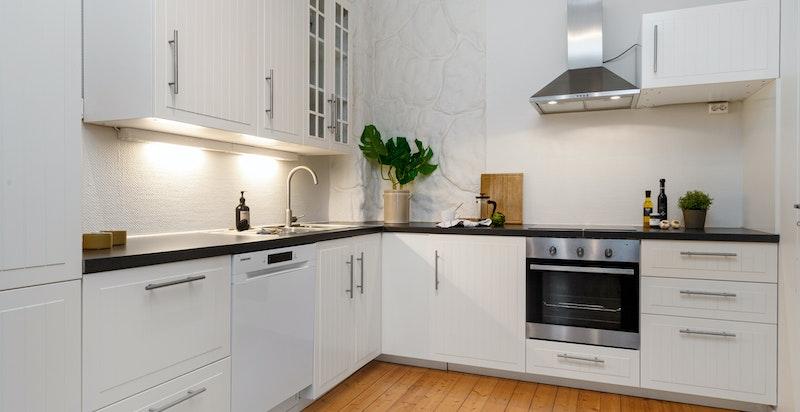 Kjøkken med innredning fra Ikea