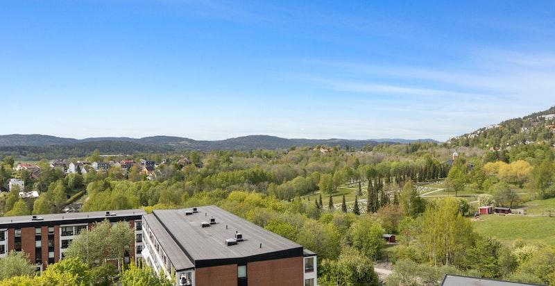 Utsikten fra leiligheten.