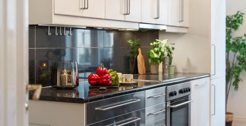 Detalj kjøkkeninnredningen