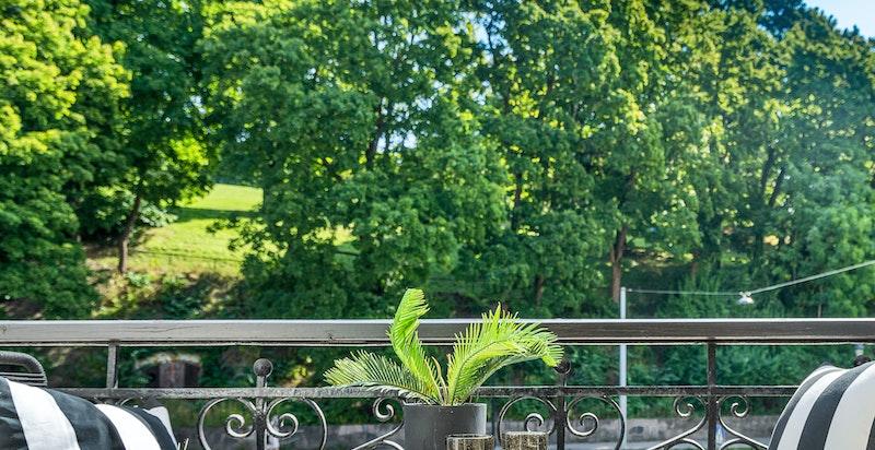Balkong med utsikt til St.Hanshaugen