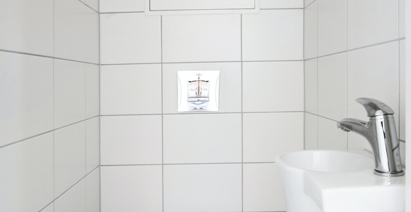 Separat wc ble også renovert i 2019