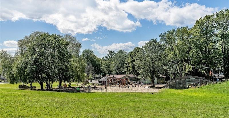 Marienlyst byr på flotte rekreasjonsområder, minigolf mv.