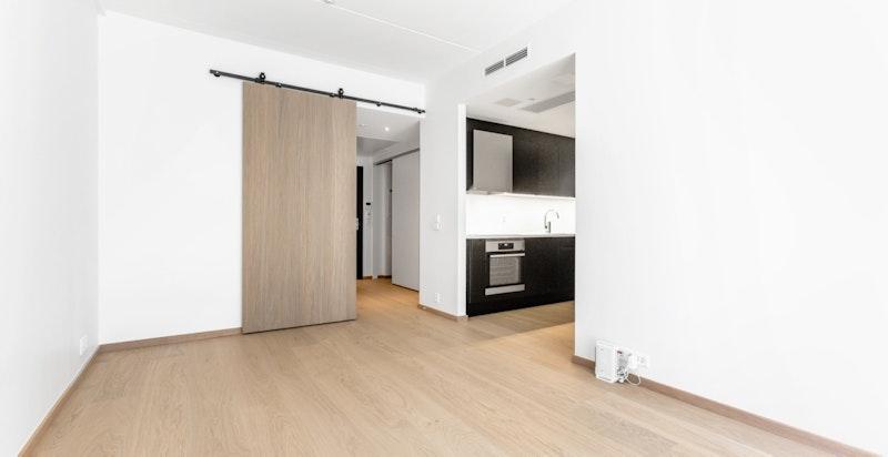 stue mot kjøkken