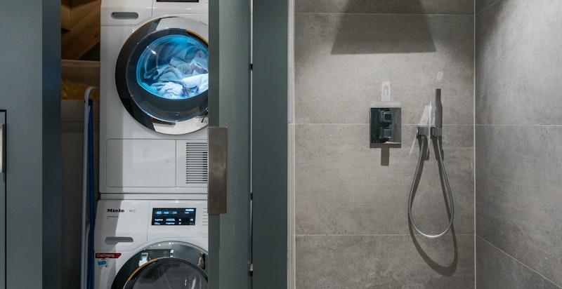 Smart løsning for vaskemaskin og tørketrommel