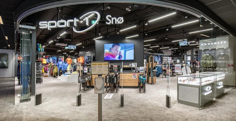Sportsbutikk inne i SNØ