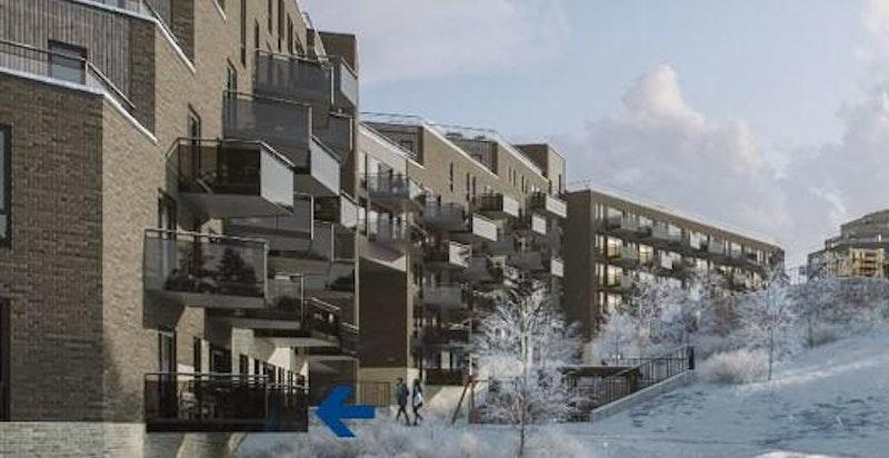 Velkommen til Snølia, leil. E-16! Ny og morderne 3-roms leilighet med god intern beliggenhet i høy 1.etg.