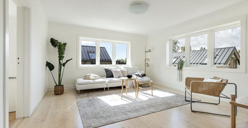 Stue med gode lysforhold