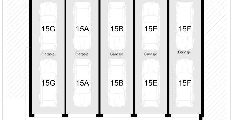 Parkeringskjeller for flere boliger i u. etasje