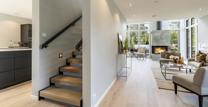 Trapp fra 1. til 2. etasje