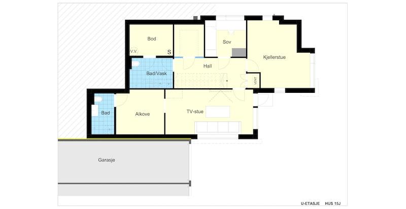 Plantegning u. etasje