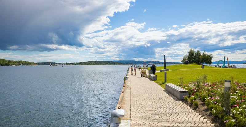 Nærheten til vannet gjør Tjuvholmen til et fantastisk sted å bo.