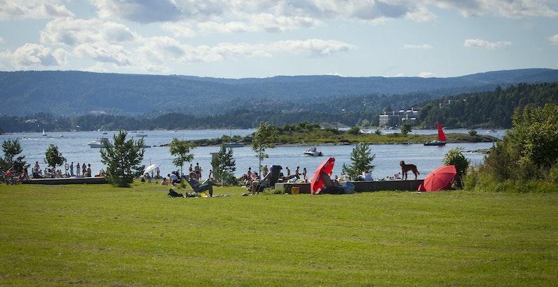 Holtekilen har fine badeplasser, parker og idyllisk naturreservat.