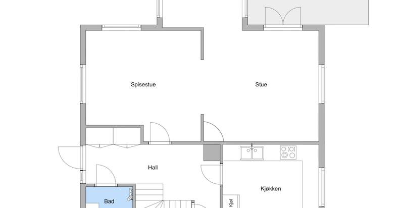 Planskisse 1. etasje - hovedetasjen