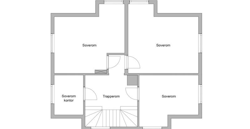 Planskisse 2. etasje - soveromsetasjen