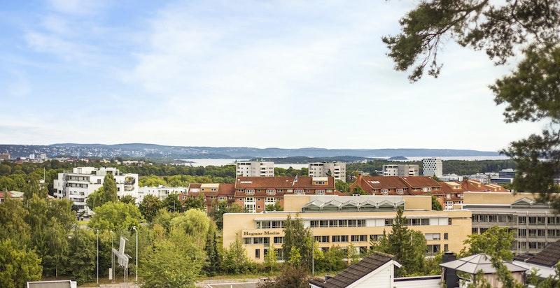 Utsikt fra terrassen mot indre Oslofjord