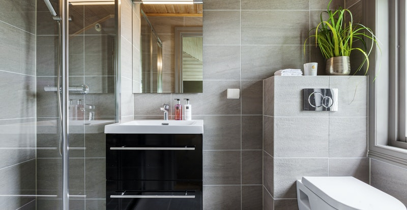Moderne dusjbadwc i tilleggsdelen