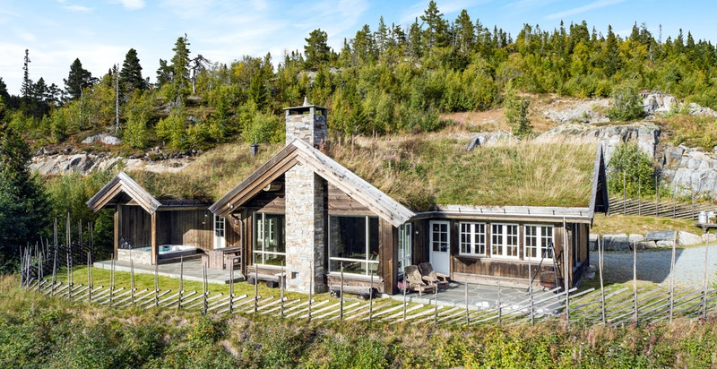 Lekker og forseggjort hytte med meget smart og gjennomtenkt planløsning