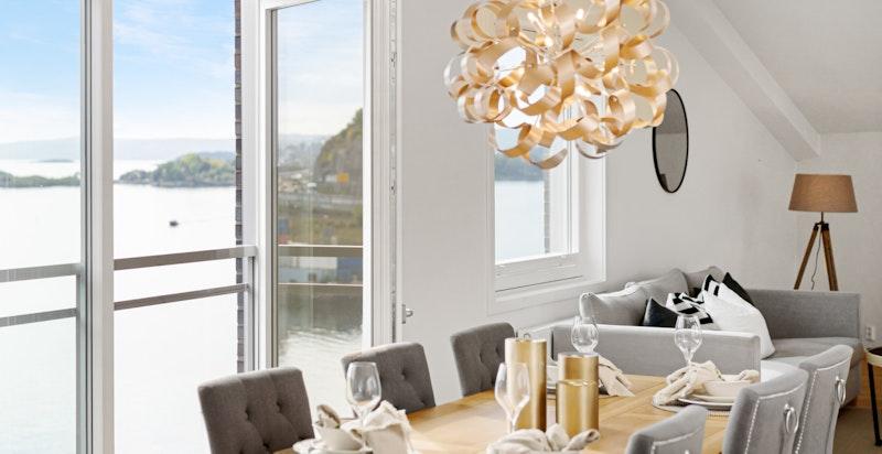 Utsikt fra stuen - Sørengkaia 106
