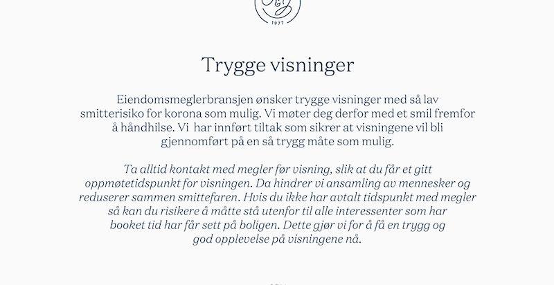 TRYGGE VISNINGER