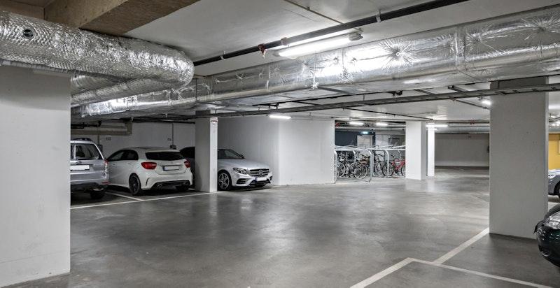Flott garasjeanlegg under bygget