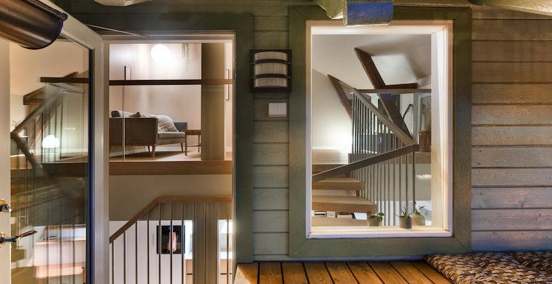Takterrassen i denne leiligheten måler 11 kvm og har fantastiske solforhold.