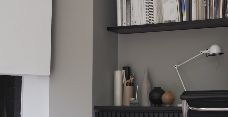 Bibliotek/TV-stue