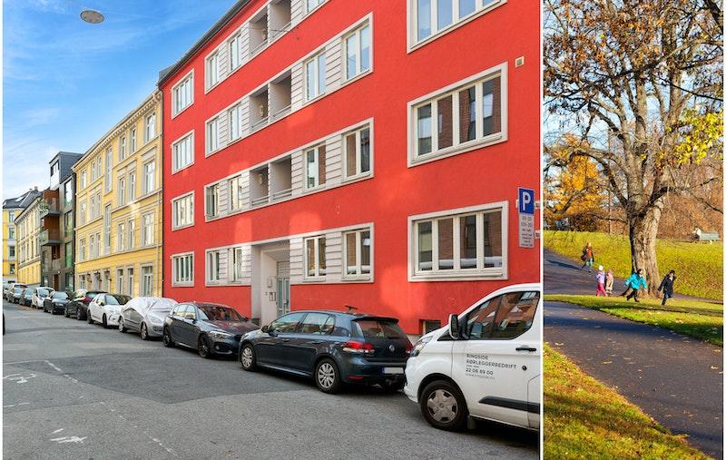 Romslig 4(5)-roms leilighet med et spennende potensial. Leiligheten ligger kun én trapp opp fra bakkeplan og er gjennomgående.