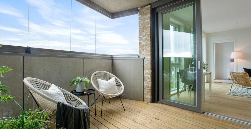 Overbygget og innglasset balkong