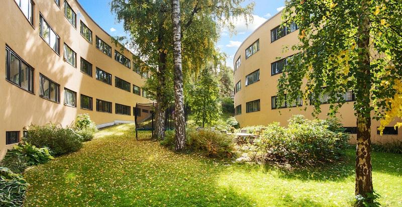 """Velkommen til toppleilighet i """"bananblokkene"""". Flott arkitektur i grønne omgivelser og en hyggelig leilighet med mye lys og luft"""