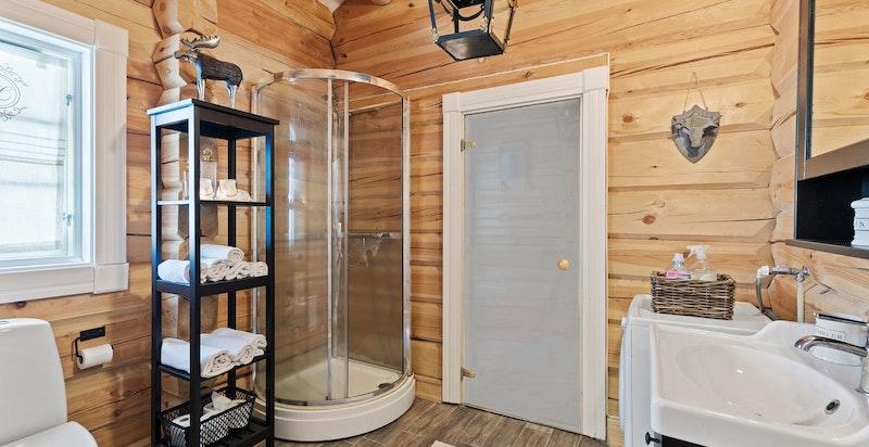 Bad med påbegynt/uferdig badstue. Denne omtales som bod.