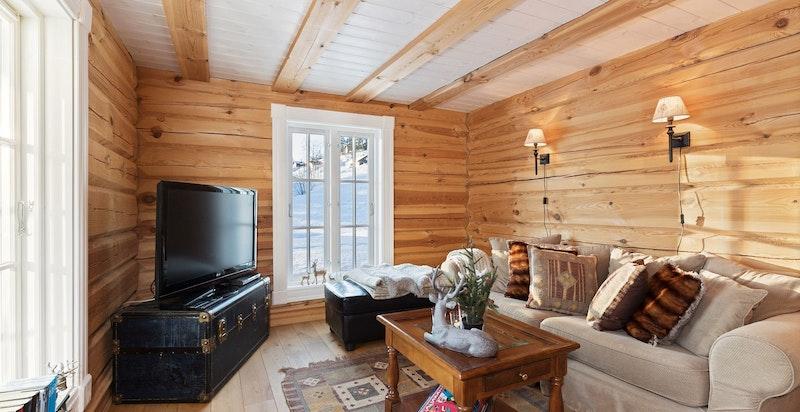 Praktisk TV- stue som også kan gjøres om til soverom