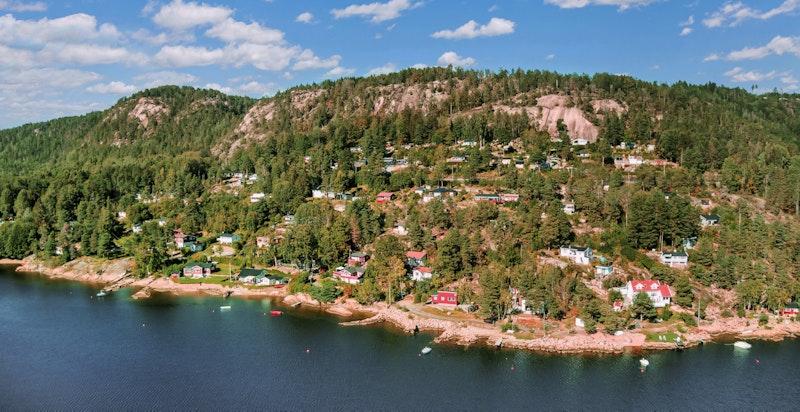 Fra området med sørlandsidyll med kort vei fra Drammen og Oslo