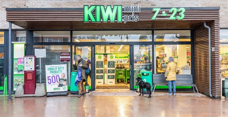 Nyåpnet Kiwi butikk i bygget
