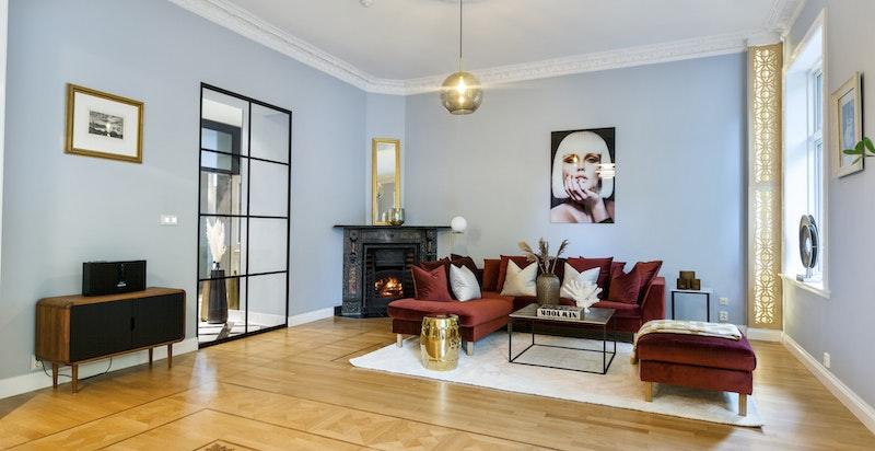 Stue - flotte påkostede gulv, heltreparkett i eik fra Berti